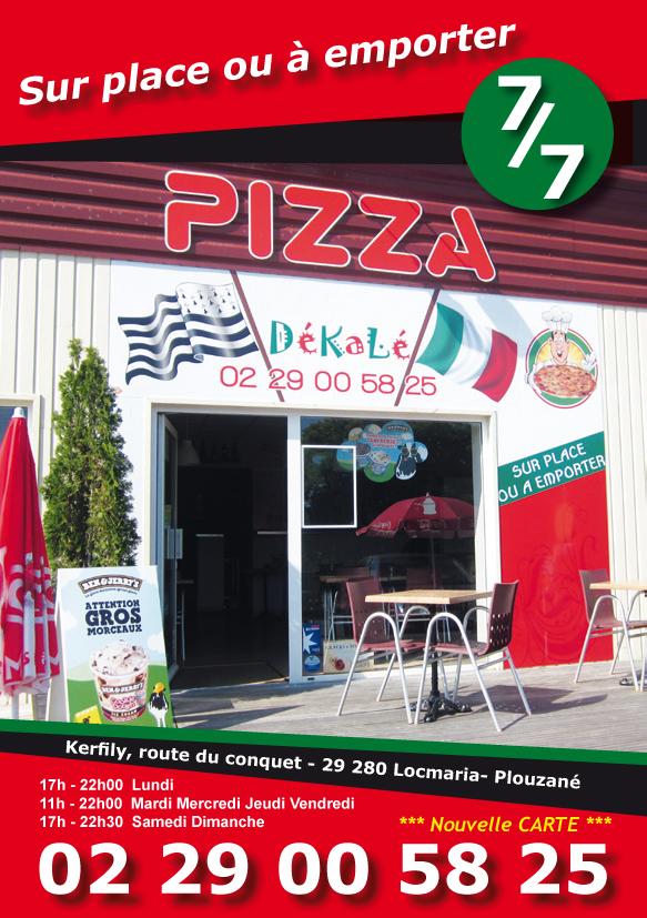 Création de flyers pour une pizzeria à Locmaria par Papillon Déco & Com