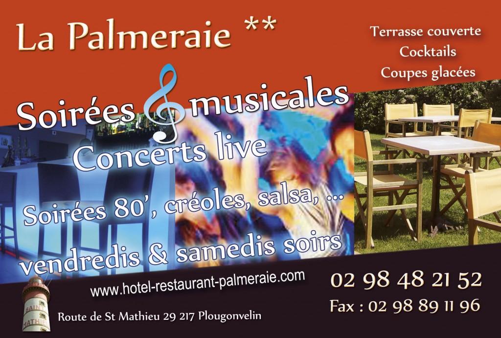 Création de flyers pour un restaurant La-Palmeraie-flyer-A6-10X15-RECTO par Papillon Déco & com à Brest