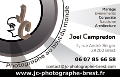 Création de logo : JC photographe à Brest