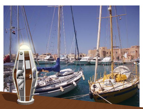 Borne de ponton lumineuse de luxe pour marina design for O architecture brest