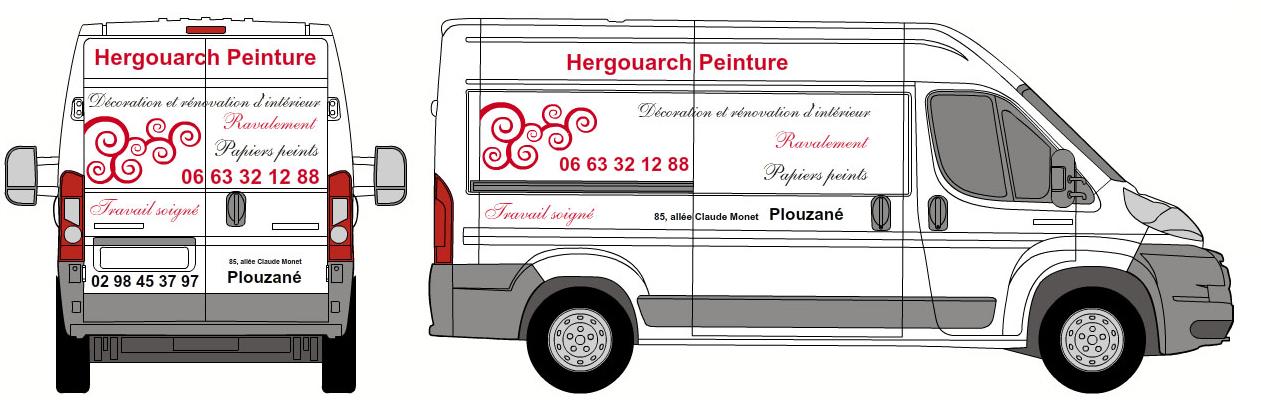 Lettrage et d coration de v hicule d artisan brest d coratrice saint renan vanessa ris - Decoration interieur camion ...
