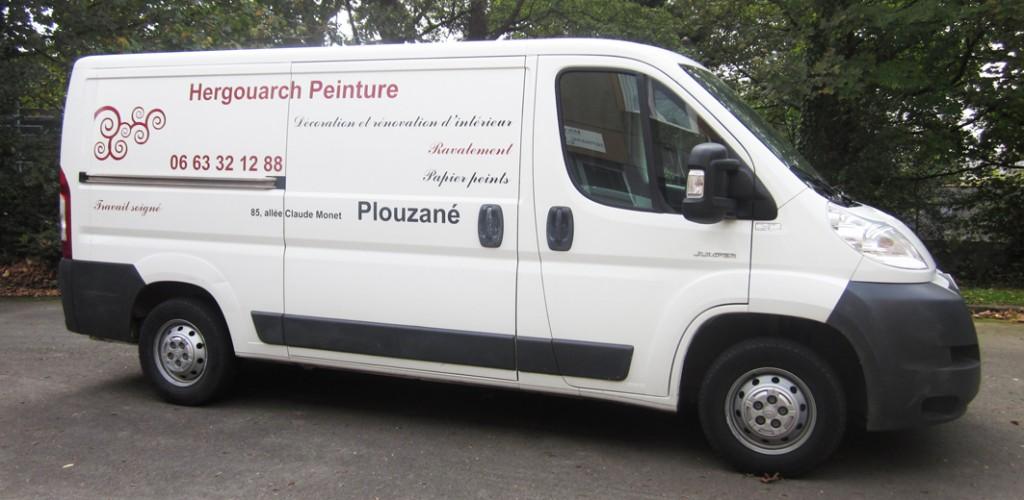 Lettrage et décoration de véhicule d'artisan à Brest - Budget raisonnable