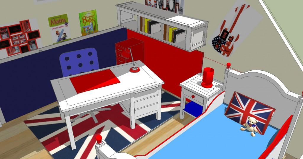 deco chambre london. Black Bedroom Furniture Sets. Home Design Ideas
