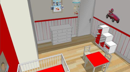 Décoration d'une chambre de bébé dans le pays de Brest